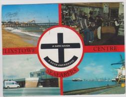 Felixstowe-seafarers centre-circulated,good condition-cut postcard-left part