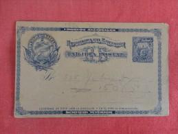 El Salvador Early Postal Card  Non Picture Standard Size Ref 1608 - El Salvador