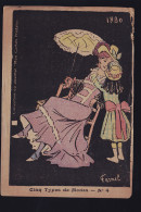 CINQ TYPES MODES RARE DE 1880 - Fashion