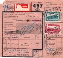 BELGIEN 1951 - 1+30 F Frankierung Auf Transportschein? Paketschein? - Belgien