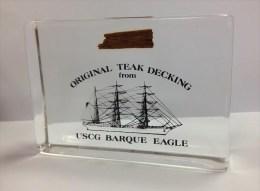 Morceau De Teck Original Du USCG BARQUE EAGLE - Navire école Pour Les Futurs Officiers De L'US Cost Guard [TDB104] - Boten