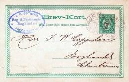 Norwegen 1889 - 5 Öre Ganzsache Auf Pk - Ganzsachen