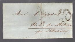 FRANCE 1860 Marque Taxée De Chambéry - 1849-1876: Periodo Classico