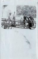NÖ KORNEUBURG - 3 Paare Auf Leiterwagen Fotokarte Gel.1907 - Korneuburg