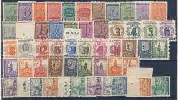 Lot West Sachsen Mi No. 116 - 19 X , 124 - 25 , 126 - 37 X , 138 - 49 Y , 150 - 55 Y , 156 - 61 , 162 - 165 A/B  **