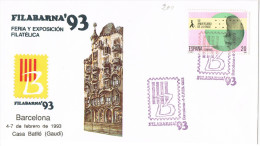 10939. Carta Exposicion Barclona 1993. FILABARNA 93 - 1991-00 Cartas