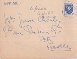 FRANCE N°1005 Sur Imprimé Metz RP 10 Novembre 1956 - Flamme La Fourrure, La Plus Belle Des Parures - Storia Postale