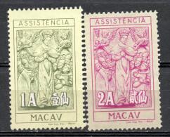 China Chine : (6106) 1958 Macau Macao - Timbres Fiscaux De Bienfaisance (6e Séries) SG C486,C487* - China