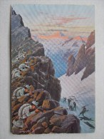 Cpa Allemande - Im Kampf Um Tirol - Guerre 1914-18