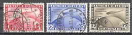 Allemagne: Yvert N° A 42A/C°; Fine Used; Les 3 Valeurs Sont Signés; Cote 1000.00€; Voir Scan - Luftpost