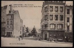 COUTANCES - PLACE DU LYCEE - à Gauche Rue PASSE - MAIRE; à Droite RUE St PIERRE --- Magasin Desmoulins - Assez Rare !! - Coutances