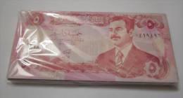 IRAQ bundle, banknote 5 DINARS P- 80 c ,1992 (100 pcs ) one bundle , UNC