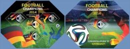 slm14504ab Solomon Is. 2014 Soccer Football champions 2 s/s
