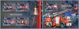slm14510ab Solomon Is. 2014 Fire engines 2 s/s