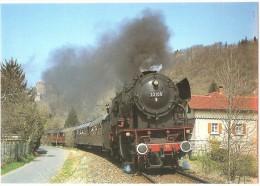 TRAIN Allemagne - EISENBAHN Deutschland - WERTHEIM-AM-MAIN - Dampf Personenzuglokomotive 23 105 - Trains