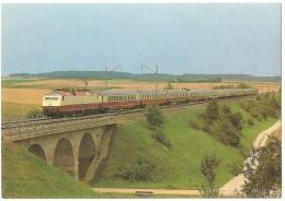 TRAIN Allemagne - EISENBAHN Deutschland - WEIßENBURG IN BAYERN - Elektro-Lokomotive 120 005-4 (Weissenburg) - Trains