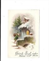 7076 - pere noel  finlande  god jul
