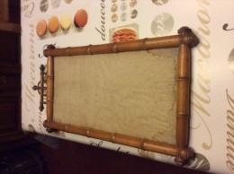 Ancien cadre imitation bambou ou miroir