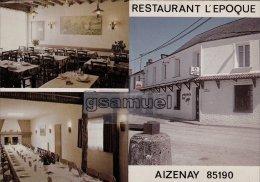 [85] Vendée >  Aizenay Restaurant L'Epoque Chez Gaby (carte Pliable). - (voir Scan). - Aizenay