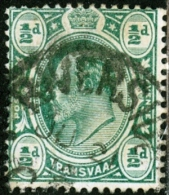 TRANSVAAL, BRITISH COLONY, COMMEMORATIVO, RE EDOARDO VII, 1902-1903, FRANCOBOLLO USATO - South Africa (...-1961)