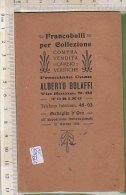 PO8556C# ODONTOMETRO FRANCOBOLLI - CARTELLETTA ALBERTO BOLAFFI Anni '30 - Francobolli