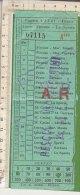 PO8570C# BIGLIETTO AUTOLINEE - AUTOBUS IMPRESA LAZZI FIRENZE - PESCIA-MONTECATINI 1957
