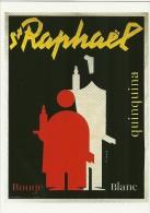 PUBLICITE ALCOOL  SAINT RAPHAEL QUINQUINA APERITIF  CHARLES LOUPOT BIBLIOTHEQUE FORNEY SERIE  L'APERITIF N° 14 - Publicité