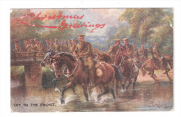 CHRISTMAS GREETINGS RAPHAEL TUCK MILITARY Postcard C.1905 THE SHERWOOD FORESTERS,NOTTS & DERBY REGIMENT - Regiments