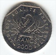 BELLE MONNAIE - 2 FRANCS SEMEUSE 2000
