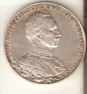 MONEDA DE PLATA DE ALEMANIA DE 2 MARK DEL AÑO 1913 (COIN) SILVER,ARGENT. - [ 2] 1871-1918 : Imperio Alemán