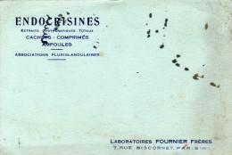Laboratoires Fournier Frères  Paris XIIe - Endocrisines- Extraits Opothérapiques Totaux Cachets Comprimés Ampoules Asso. - Produits Pharmaceutiques
