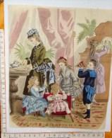 Chromo Fin 19°/ Gravure De Mode / Gouter Enfant Plateau Gateau - Trade Cards