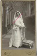 Grand CDV (CAB) -jolie Communiante Identifiée Charlotte GRENZINGER-photo Bruirard Paris - Anciennes (Av. 1900)