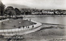 REAL PHOTOGRAPHIC POSTCARD - WEST BAY FROM THE LIDO - DUNOON - ARGYLL - SCOTLAND - Argyllshire