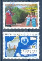 SEPARATION POSSIBLE - Madagaskar Used Cancelled 2005 Monkey Singe Aap Rotary set
