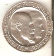 MONEDA DE PLATA DE ALEMANIA DE 3 MARK DEL AÑO 1911 LETRA F (COIN) SILVER,ARGENT. - [ 2] 1871-1918 : Imperio Alemán