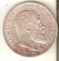 MONEDA DE PLATA DE ALEMANIA DE 3 MARK DEL AÑO 1914 LETRA F  (COIN) SILVER,ARGENT. - [ 2] 1871-1918 : Imperio Alemán
