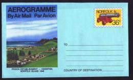 NORFOLK   36c Aerogramme  - Prison Kingston -  Unused - Norfolk Island