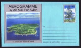NORFOLK   40c Aerogramme  - Aerial View Of Norfolk - Pine - Unused - Norfolk Island