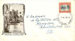 WESTERN SAMOA  1935 Pictorial Issue  2d View Of Apia -  FDC To New Zealand - Samoa