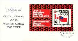 SAMOA  1978  CAPEX Philatelic Exhibition In Toronto Souvenir Sheet - FDC - Samoa