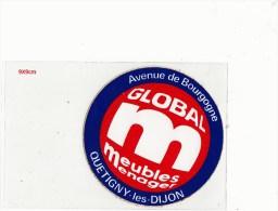 Autocollant - GLOBAL Meubles Menager Avenue De Bourgogne Quetigny-les-Dijon Dép21 - Autocollants