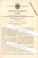 Original Patent  - Martin Wettich In Cassel , 1886 , Füllfederhalter , Federhalter , Füller , Kassel !!! - Schreibgerät