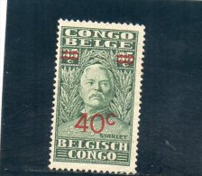 CONGO BELGE 1931 *