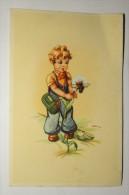 "(5/9/29) AK ""Mädchen Mit Blume"" Signiertes Motiv - Illustrateurs & Photographes"
