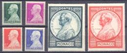 Monaco YT N°281/286 Prince Louis II Neuf ** - Monaco