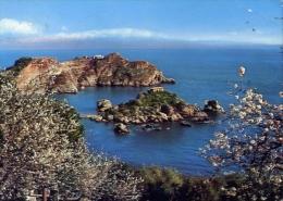 Taormina - isola bella e capo s.andrea - 19 - formato grande viaggiata mancante di affrancatura
