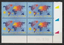 CD Conseil De L'Europe 1949-1999 Du 26/02/1999 - Hoekdatums