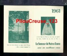 """87 Haute Vienne - CHATEAUPONSAC - """" Eglise Saint Thyrse Et La Croix De St Martial - Calendrier 1961 """" - Calendriers"""
