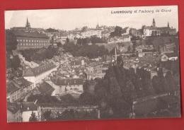 POD-13 Luxembourg Et Faubourg Du Grund. Circulé Sous Enveloppe En 1917 - Luxemburg - Stad